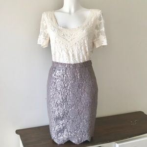 Anthropologie Lilac Skirt